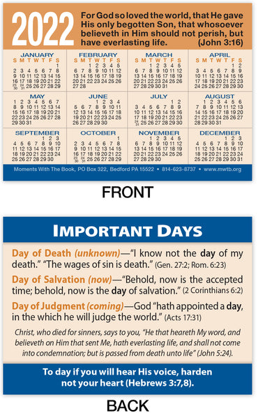 Calendar Card: Important Days