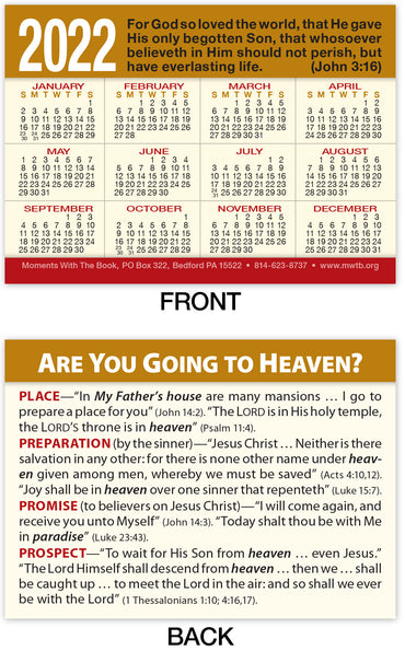 Calendar Card: Are You Going to Heaven?