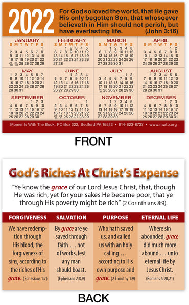 Calendar Card: God's Riches at Christ's Expense