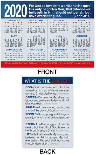 2020 Calendar Card: What Is The Gospel?