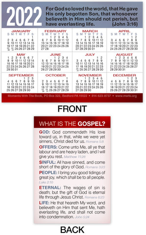 2022 Calendar Card: What Is The Gospel?