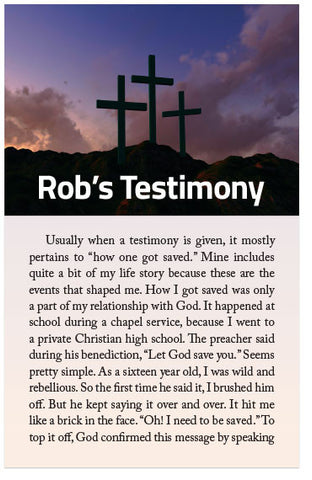 Rob's Testimony (Preview page 1)