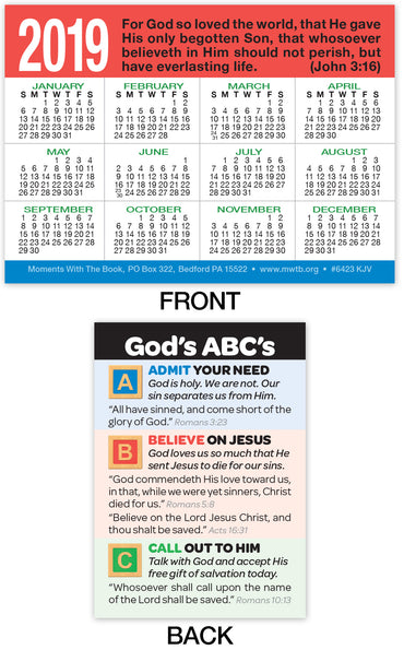 2019 Calendar Card: God's ABC's