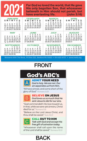 2021 Calendar Card: God's ABC's