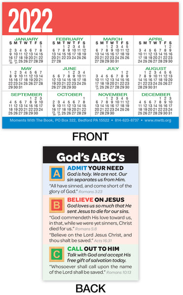 Calendar Card: God's ABC's (Personalized)