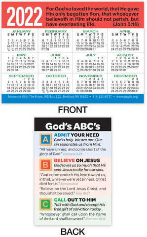 2022 Calendar Card: God's ABC's
