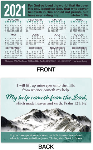 2021 Calendar Card: My Help Comes From The Lord