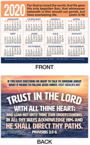 2020 Calendar Card: Trust In The Lord