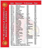 Sports Schedule Card (Preview page 1)
