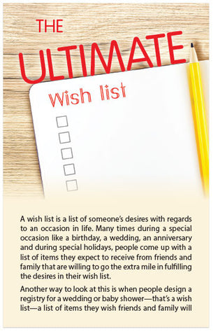 The Ultimate Wish List (KJV) (Preview page 1)