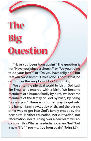 The Big Question (NKJV) (Preview page 1)