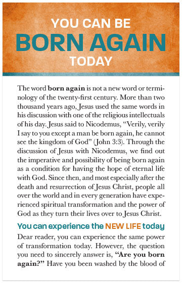 You Can Be Born Again Today (Preview page 1)