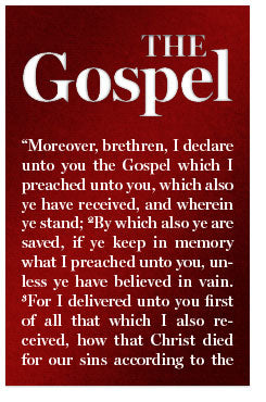 The Gospel (Mini Tract, English)
