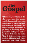 The Gospel (1 Cor 15:1-4)