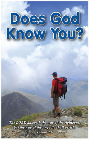 Does God Know You? (KJV) (Preview page 1)