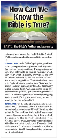 How Can We Know The Bible Is True? (Part 2 of 5)