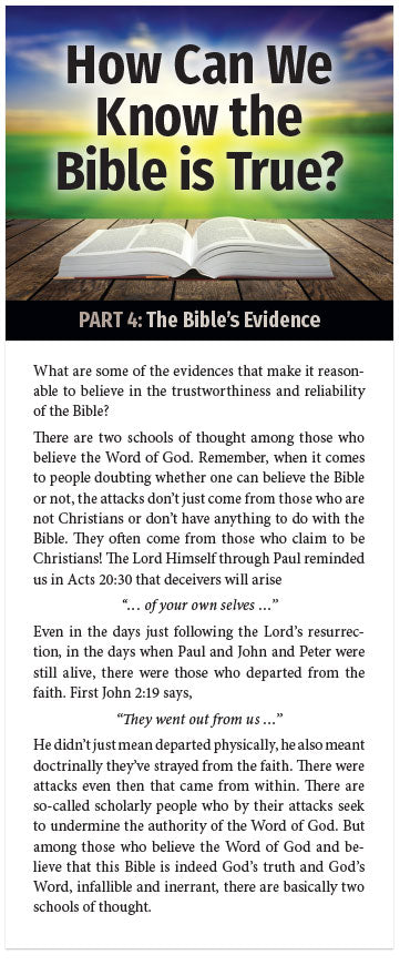 How Can We Know The Bible Is True? (Part 4 of 5)
