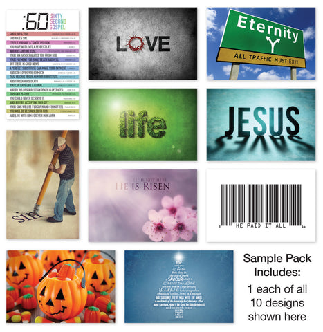 Postcard Tracts Sample Pack