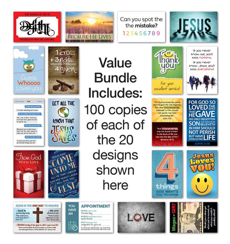 Mini Tract Value Bundle (100 each of 20 titles)