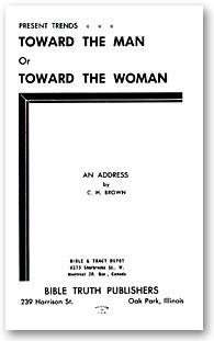 Present Trends Toward the Man or Toward the Woman