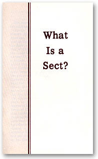 What Is a Sect?
