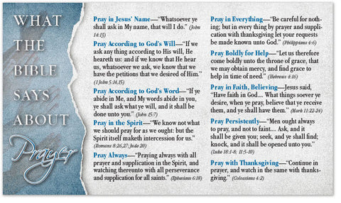 What the Bible Says About Prayer (Prayer List) (Preview page 1)