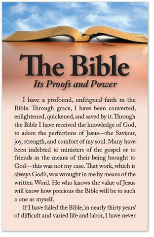 The Bible: Its Proofs and Power (Preview page 1)