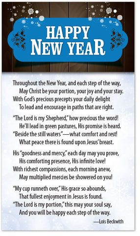 Christian New Year Poems 6