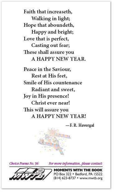 Poetry Card – New Year\'s Wishes – Moments With The Book