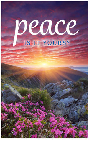 Peace: Is It Yours?