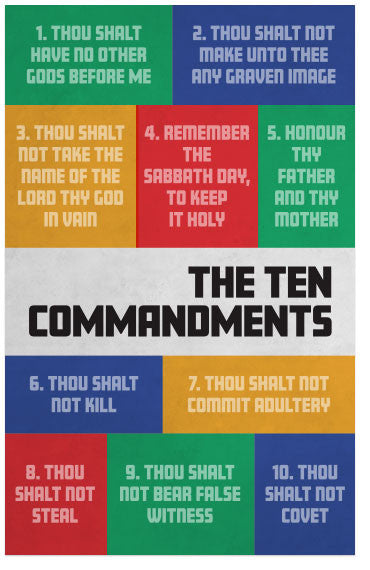 graphic relating to Printable Gospel Tract called The 10 Commandments