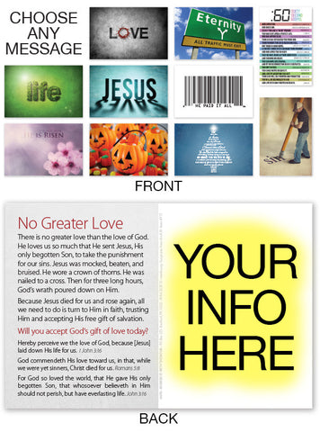 Postcard Tracts: Personalized