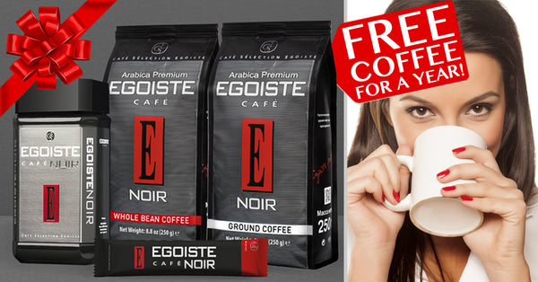 egoiste free coffee for a year contest