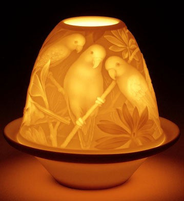 LITHOPHANE VOTIVE LIGHT - PARROTS 1017305