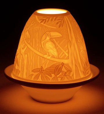 LITHOPHANE VOTIVE LIGHT - TOUCANS 1017307