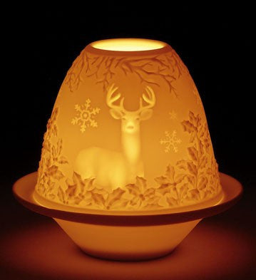 LITHOPHANE VOTIVE LIGHT - DEER 1017316