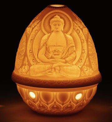 LITHOPHANE VOTIVE LIGHT - BUDDHA 1017325