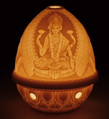 LITHOPHANE VOTIVE LIGHT -GODDESS LAKSHMI 1017339