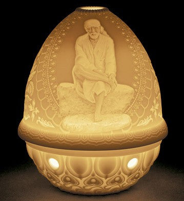 LITHOPHANE VOTIVE LIGHT - SAI BABA 1017365