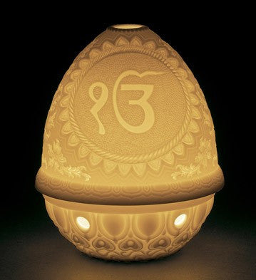 LITHOPHANE VOTIVE LIGHT-IK ONKAR 1017371