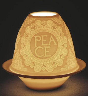 LITHOPHANE VOTIVE LIGHT PEACE 01018428