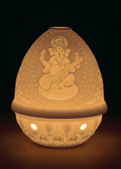 LITHOPHANE VOTIVE LIGHT - VEENA GANESHA 1017390