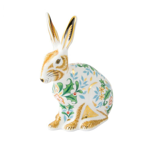 Royal Crown Derby Paperweight  Winter Hare