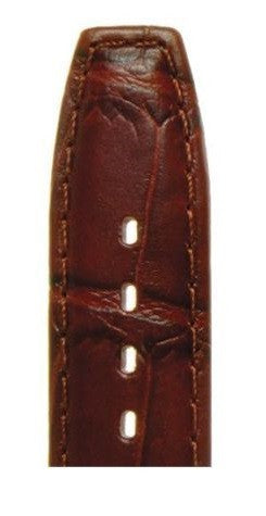 Antique Croc Grain Leather Watch Strap LS1209