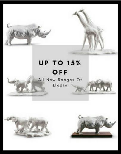 Up to 15% off retail price on all Lladro collectibles