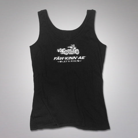 Ladies motorcycle biker sexy tank - black, Fawkinnae