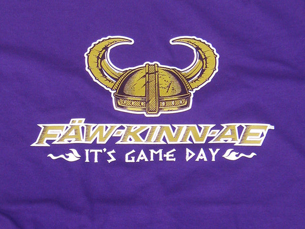 FAWKINNAE It's Game Day - Women's long-sleeved purple t-shirt