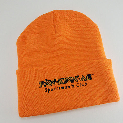 Blaze orange knit stocking cap - hunting, Fawkinnae