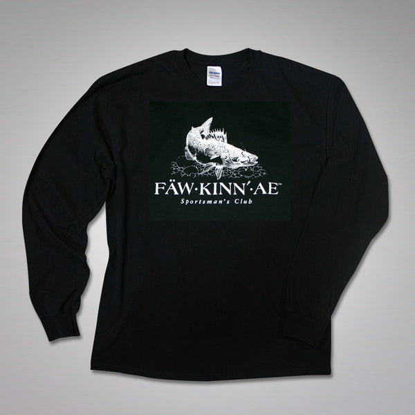 FAWKINNAE Men's Walleye Fishing Long-sleeved tee