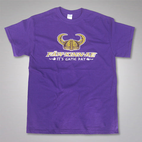 FAWKINNAE It's Game Day purple t shirt